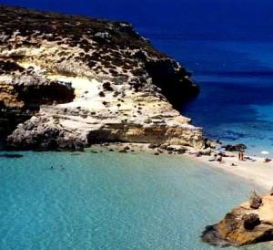A beach in Lampedusa