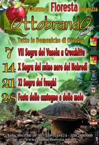 Ottobrando 2012 a Floresta, programma - locandina da nebrodiario.it